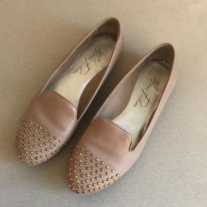 Marc Fisher nude studded loafers